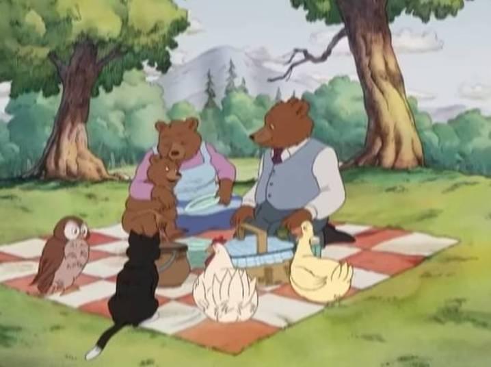 O Pequeno Urso foi um desenho originalmente exibido pela TV Cultura nos anos 1990, migrando nos anos 2000 para outras emissoras. A finalidade da animação da família de ursos era mostrar a união familiar e valores morais. Para atingir o objetivo os criadores inventaram diversas histórias em torno das aventuras do ursinho curioso e seus pais, Papai-Urso e Mamãe-Urso, e os amigos pata, galinha, gato, coruja, e uma garotinha chamada Emily.