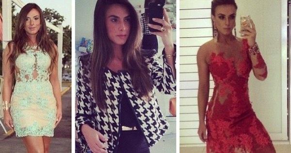 Sempre polêmica, Nicole Bahls gosta de looks curtos, bordados e ...