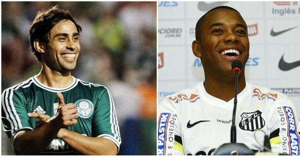 """Volta de """"Valdisney"""" no Palmeiras e chegada de Robinho no Santos ..."""