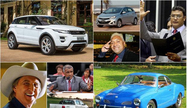 Eleições: Tiririca vai de Land Rover, Sérgio Reis de Karmann-Ghia...