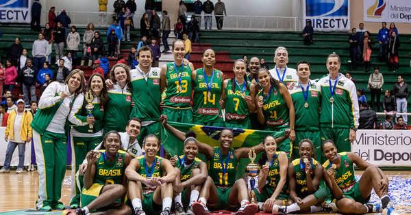 Brasil vence e festeja título sul-americano no basquete - Rede ...
