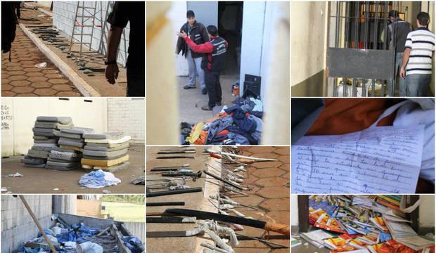 Imagens mostram interior da Penitenciária de Cascavel (PR), destruída em rebelião