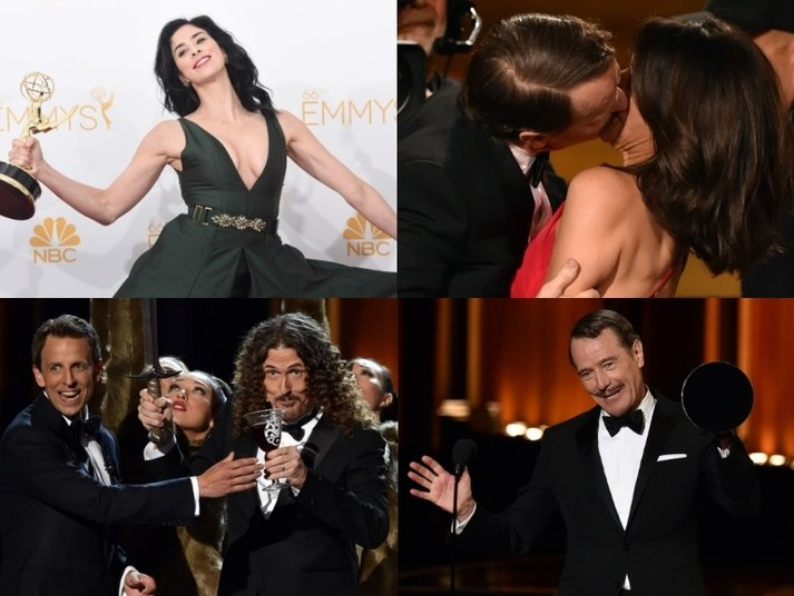 O Emmy 2014, considerado o Oscar da TV americana, aconteceu nesta segunda-feira (25). A premiação foi marcada pelas gracinhas do apresentador Seth Meyers e as grandes vitórias de Breaking Bad.Veja os melhores e piores momentos do Emmy 2014