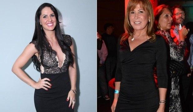 Vestido e coxas saradas: mulheres de Zezé fazem sucesso em frente ao palco