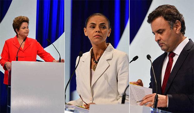 Dilma, Marina, Aécio e nanicos se encontram no 2º debate presidencial