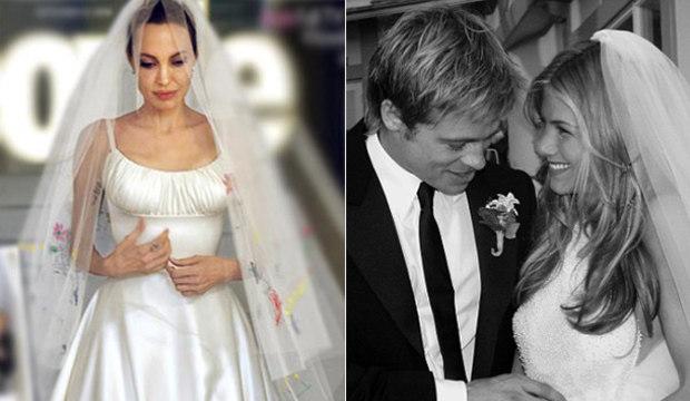 Qual foi a noiva mais bonita de Brad Pitt: Jennifer Aniston ou Angelina Jolie?