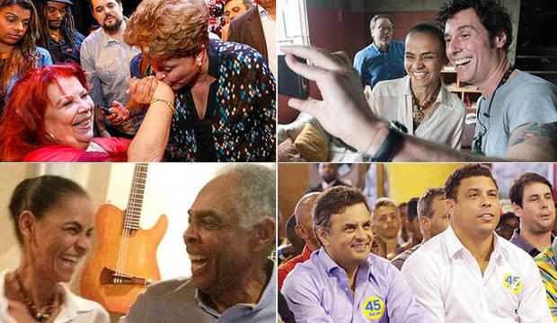 Candidatos ganham reforços de Mano Brown, Ronaldo, Gil e Zezé Di Camargo