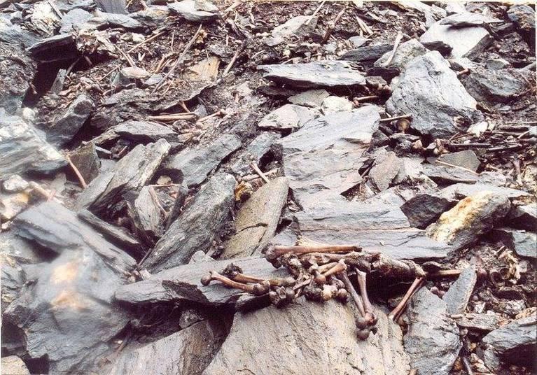 Detalhe sombrios: os pesquisadores estudaram os ossos e concluíram que todos os mortos ali foram levaram golpes fatais na cabeça