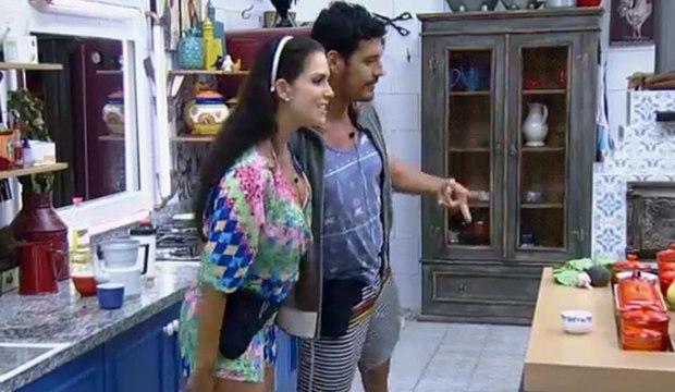 """Diego diz que Débora está """"encantada"""" com Marlos"""