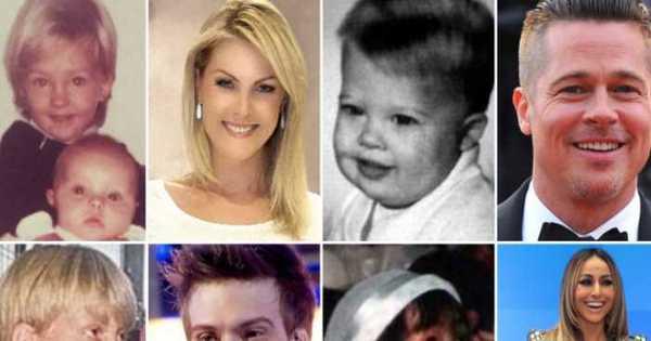 Eles cresceram! Veja como eram Brad Pitt, Madonna, Gisele ...