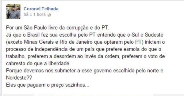 Após vitória de Dilma, coronel Paulo Telhada, do PSDB, pede ...