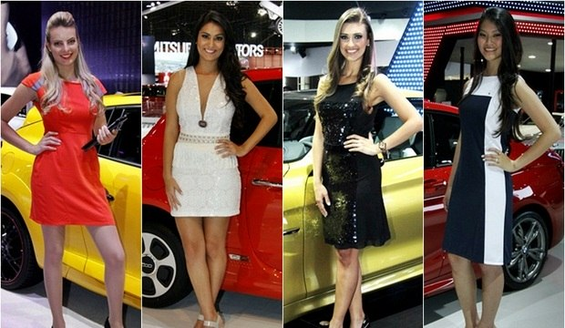 Gatas roubam a cena durante a abertura do Salão do Automóvel de São Paulo