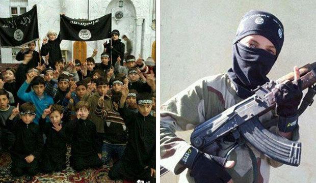 Crianças são treinadas para a guerra em campo militar do Estado Islâmico