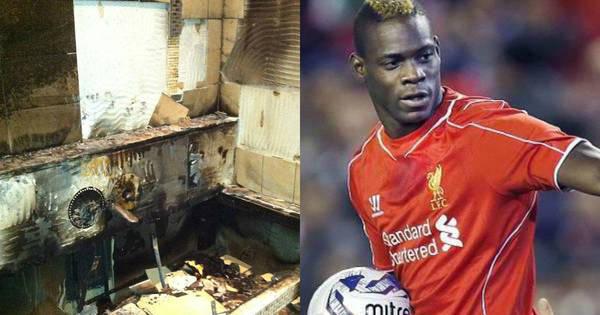 Fotos mostram casa de Balotelli destruída após incêndio causado ...