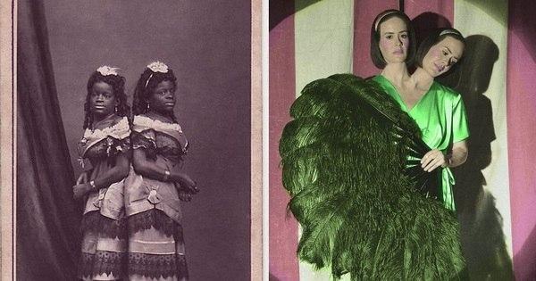 """Irmãs siamesas e mulher barbada da série """"American Horror Story ..."""