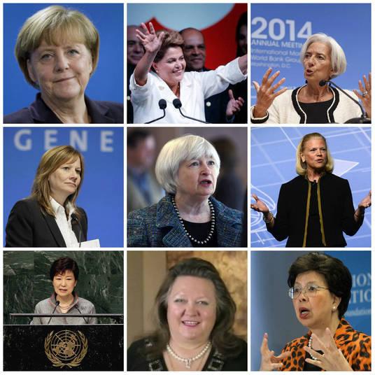 A revista Forbes divulgou a lista das 72 pessoas mais poderosas do mundo, e entre todas, nove mulheres aparecem em boas posições.Chefes de Estados, líderes de bancos e grandes empresas multinacionais, elas conquistaram seu espaço com esforço e trabalho. Entre elas, está a presidente do Brasil, Dilma Rousseff. Conheça quem são essas mulheres