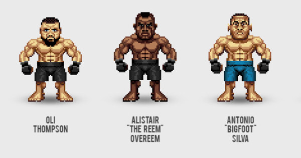 Lendas do UFC são retratadas como personagens de videogame ...