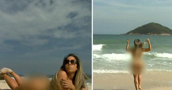 Mulher Melão comemora oficialização de praia de nudismo e corre ...