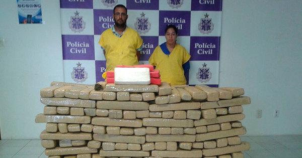 Casal é preso com quase 360 kg de drogas avaliadas em R$ 500 mil