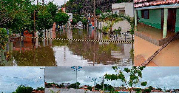 Bom Jesus da Lapa fica alagada após forte chuva - Fotos - R7 Bahia