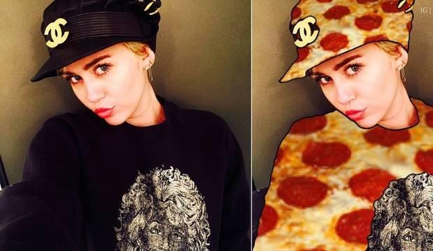 Vinte e duas montagens que colocam a aniversariante Miley como a mestre da arte