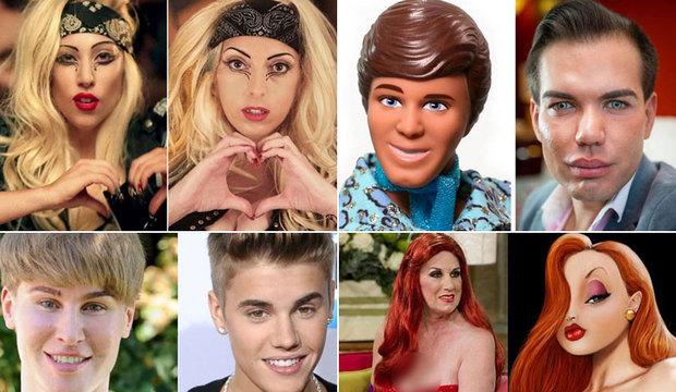 Fãs gastam fortunas para ficarem parecidos com famosos, mas acabam bizarros