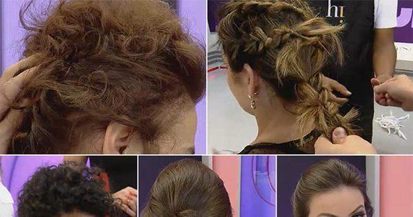 Para fazer em casa! Cabeleireiro das famosas ensina penteados ...