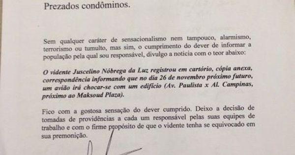 Vidente volta atrás sobre previsão de acidente na avenida Paulista ...