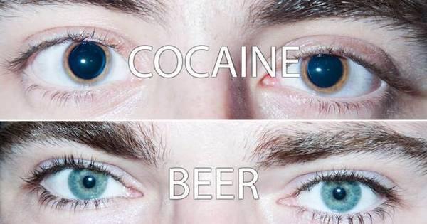 Fotos mostram mudança nos olhos de pessoas que usam drogas ...
