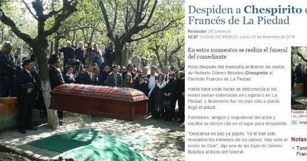 Corpo de Chaves é enterrado no México - Entretenimento - R7 ...