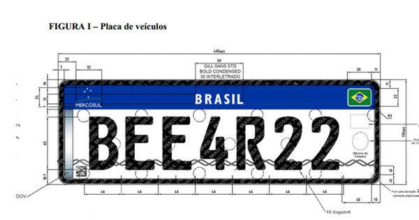 Veículos novos terão placa com quatro letras e três números a partir ...