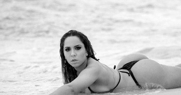 Mulher Melão mostra fotos inéditas de curtição em praia de nudismo ...
