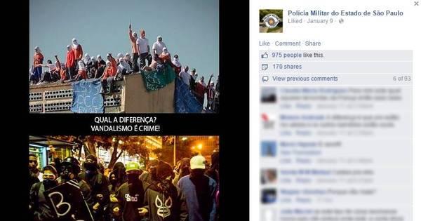 Alckmin reprova críticas da PM aos black blocs em rede social ...