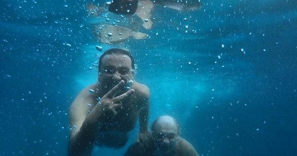 Geraldo Luís se diverte e registra mergulho ao lado de Marcelo ...