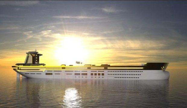 Empresa projeta iate do tamanho de petroleiro, com pista de esqui e espaço para 5 helicópteros