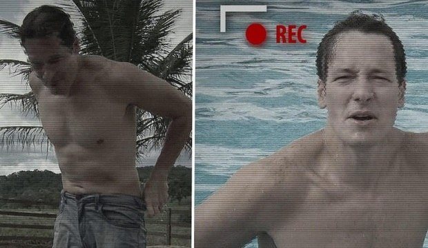 """Faro mergulha em piscina usando calça jeans! Relembre as """"trapalhadas"""" do apresentador"""