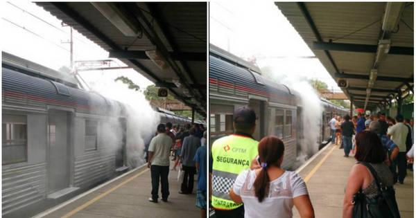 """Trem da CPTM vira """"maria-fumaça"""" após falha - R7"""