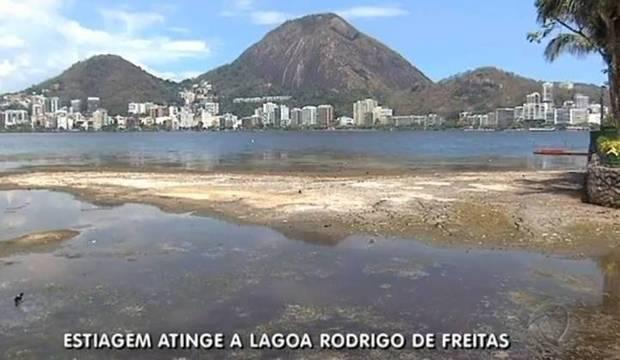 Falta de chuva reduz nível da Lagoa e seca Quinta da Boa Vista. Veja imagens