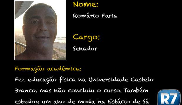 Romário na faculdade de moda? Conheça <br />a vida acadêmica dos políticos brasileiros