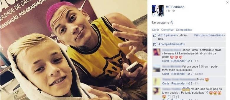 Com show proibido, MC Pedrinho ignora polêmica e a foto  aeroporto