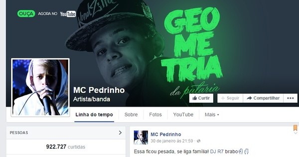 Funkeiro de 12 anos, MC Pedrinho lança proibidão com letra sexual ...