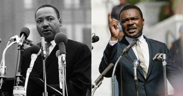 No filme Selma, atores ficam idênticos a personalidades da vida real