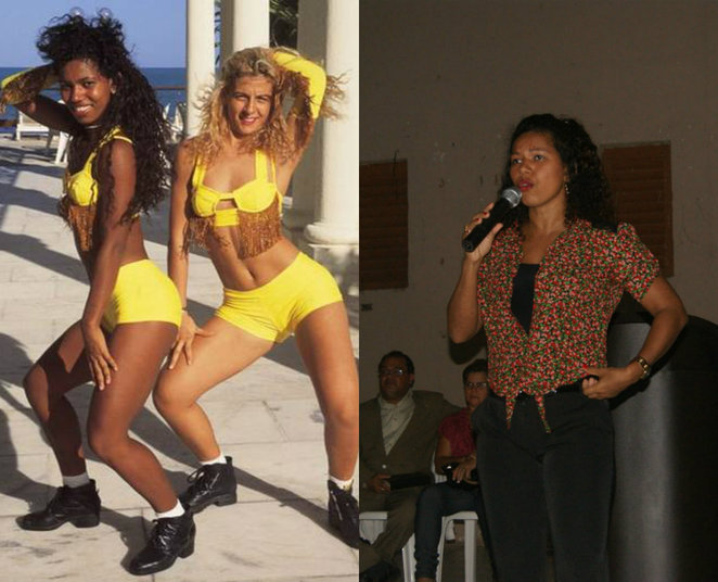 Débora Brasil foi a primeira morena do É o Tchan!, boa parte quando o grupo ainda se chamava Gera Samba. Em 1997, deu lugar a Scheila Carvalho. A ex-dançarina teve um longo relacionamento com o cantor Beto Jamaica. Em 2007, Débora se converteu e hoje é missionária e cantora gospel