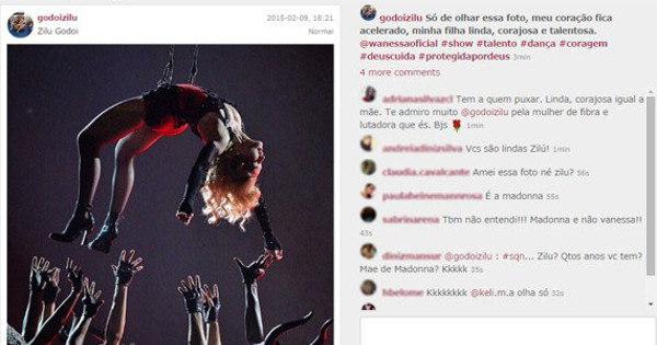 Zilu confunde Wanessa com Madonna e depois esclarece que tudo ...