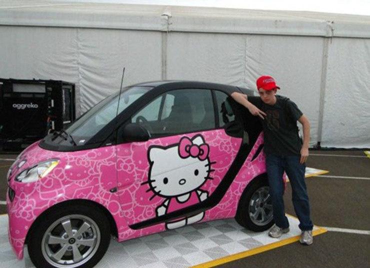 Pelo jeito a Hello Kitty conquistou os corações dos 'marrentos' mundo afora