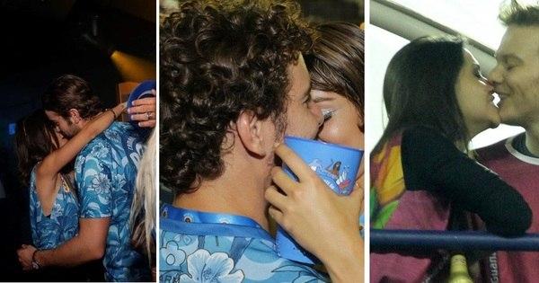 Beija, beija, tá calor, tá calor! Famosos beijam muito durante a folia