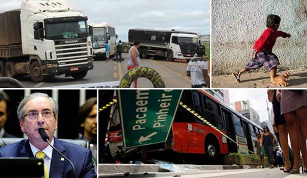 Protesto de caminhoneiros para metade do<br />País e menino indiano tem pé gigante de 5 kg