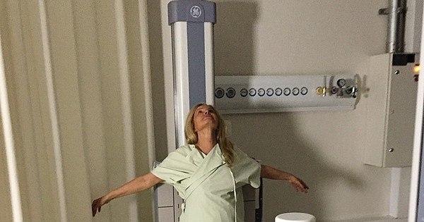 """Brunete Fraccaroli """"apronta"""" em dia de exame médico ..."""