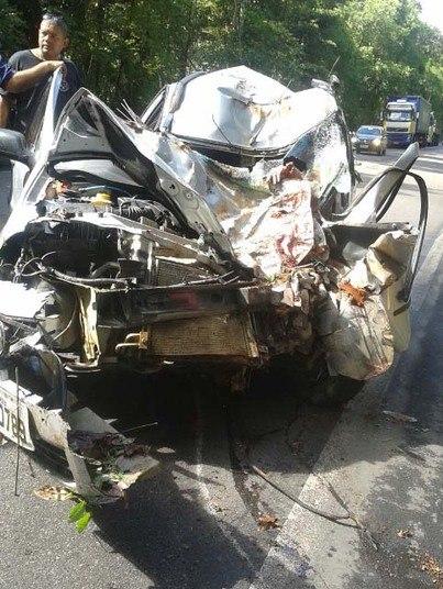 O grave acidente ocorreu na BR-101, no trecho do município de Uruçuca, no sul da Bahia