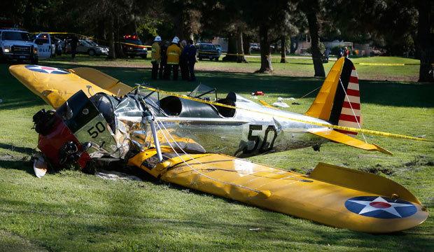 Veja as imagens do acidente de avião envolvendo o ator nos Estados Unidos